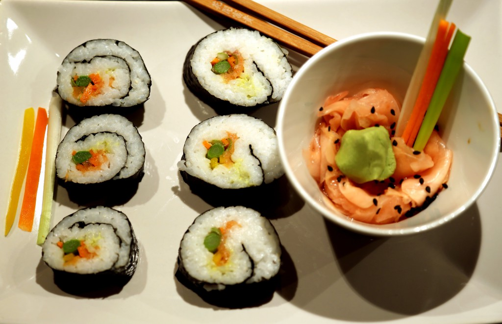 Tohle je porce sushi pro jednoho.