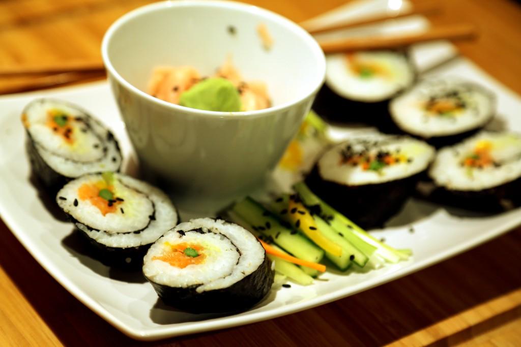 domácí sushi není nijak náročné na přípravu