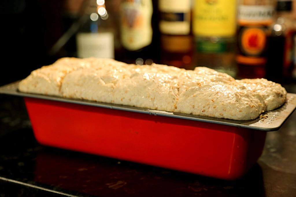 během půl hodiny chleba nakynul dvojnásobně