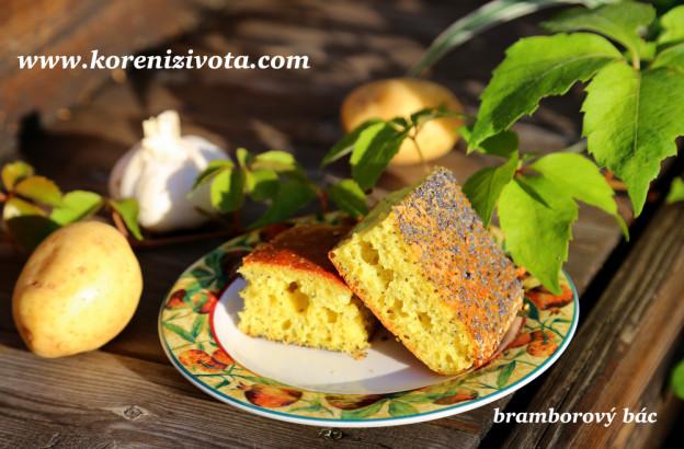 bramborový bác s česnekem a majoránkou