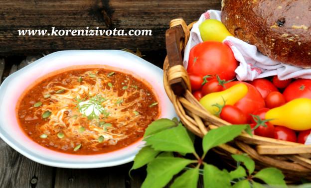 fazolovo-dýňová polévka