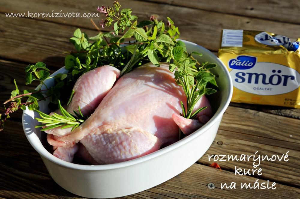 suroviny: čerstvá bylinka, kousek másla, pepř a sůl