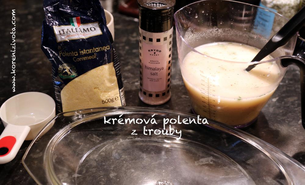 suroviny: polenta (klidně i instatní), sůl, pepř, voda (lze nahradit mlékem či vývarem)