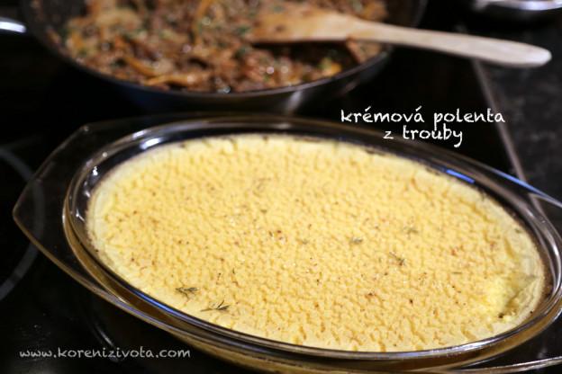 krémová polenta z trouby