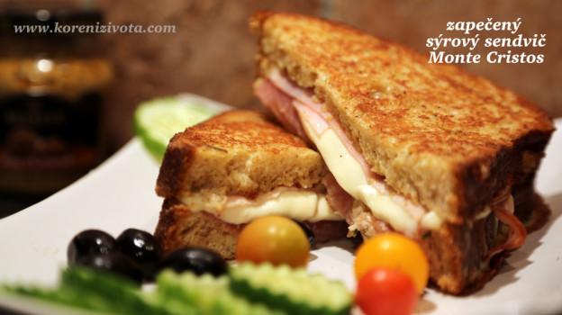 zapečený sýrový sendvič Monte Cristos
