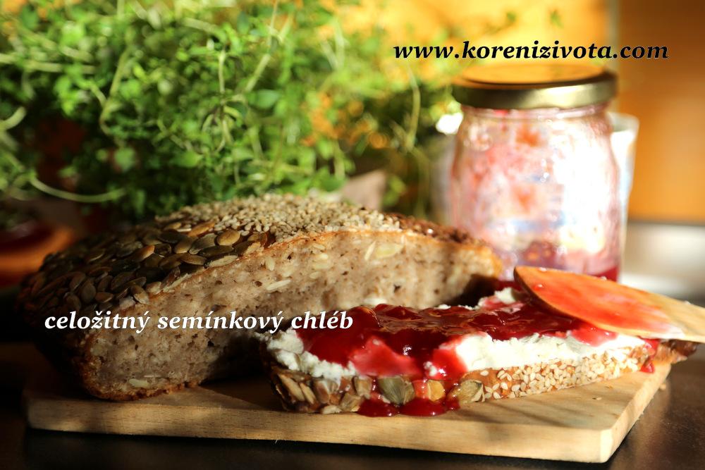 celožitný semínkový chléb je výborný, až když řádně vychladne, nejlépe druhý den