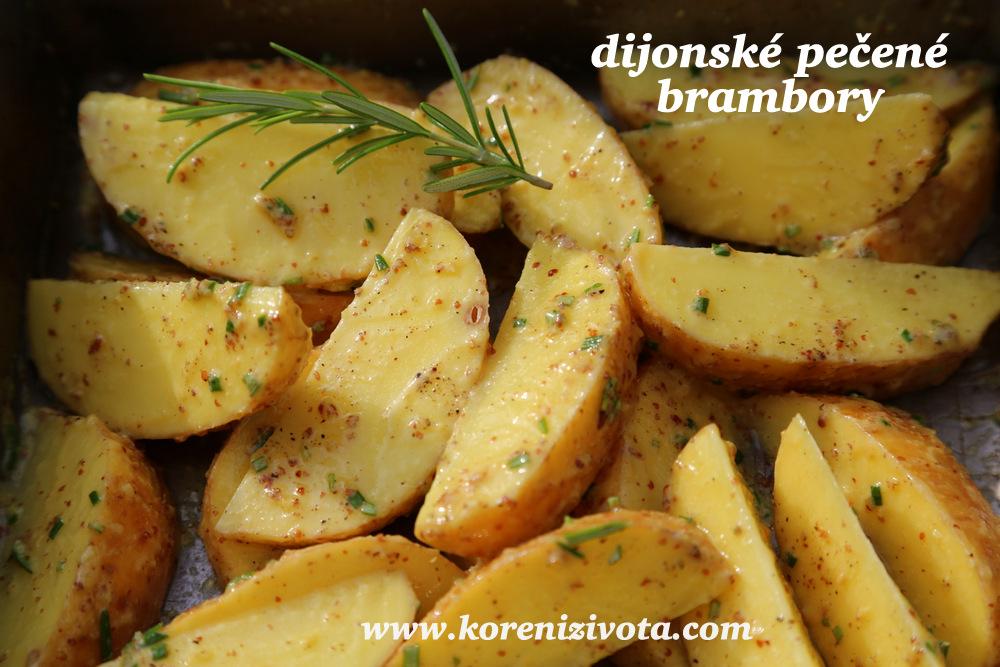 dijonské pečené brambory