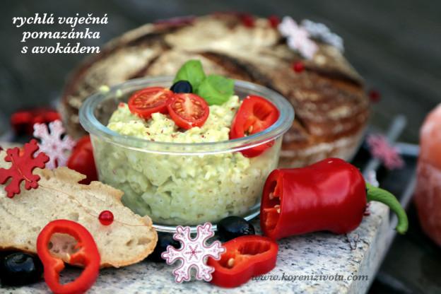 Rychlá vaječná pomazánka s avokádem