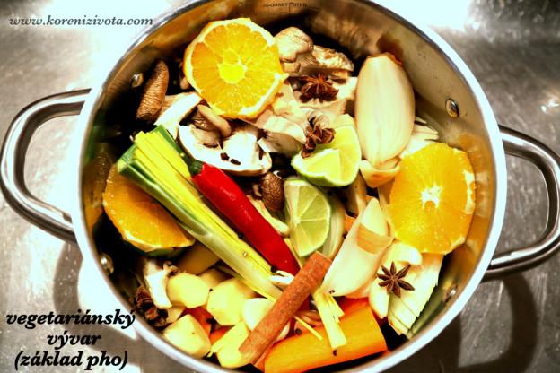 vegetariánský vývar (základ pro pho)