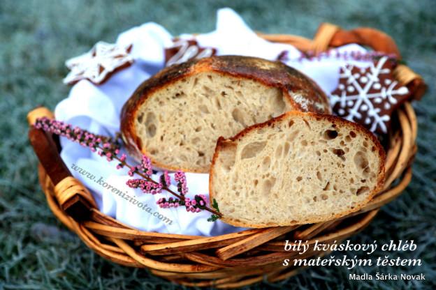 bílý kváskový chléb s mateřským těstem