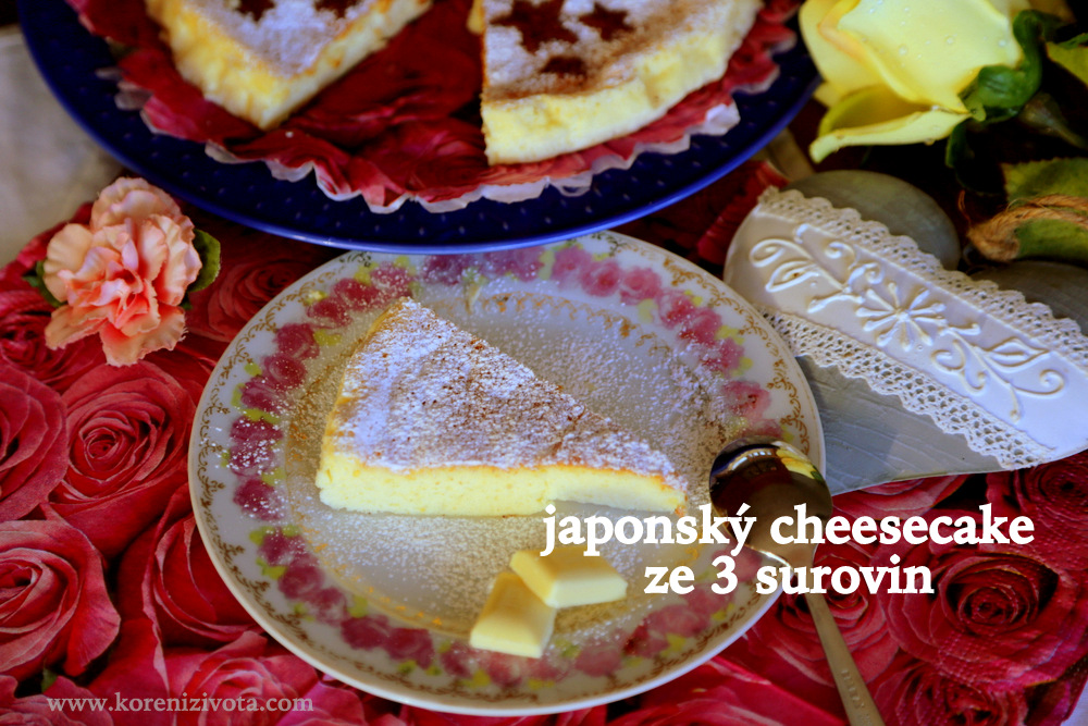 japonský cheesecake ze 3 surovin