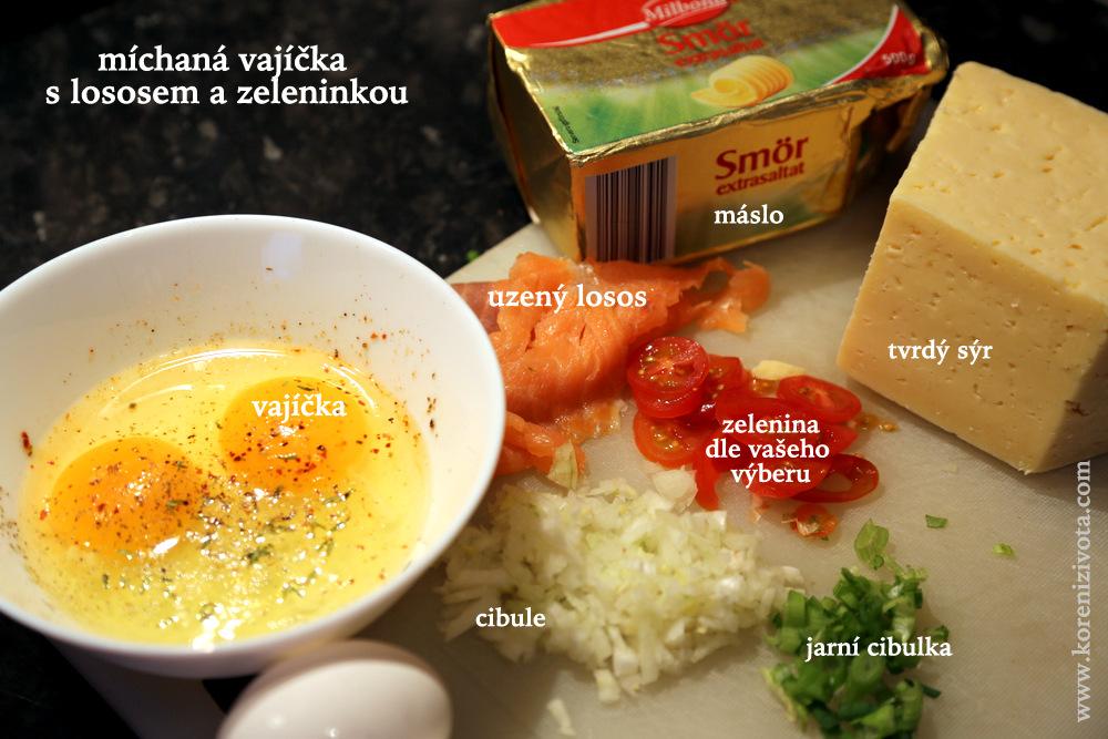 suroviny jsou jednoduché: základ je máslo, vajíčka, uzená ryba a čerstvá zelenina. Jako bonus si můžete dát semínka, bylinky a sýr...