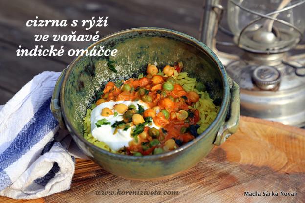 Cizrna s rýží ve voňavé indické omáčce