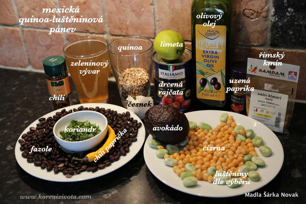 základní suroviny, luštěniny použijte dle vlastního výběru a třeba přidejte kukuřici apod.