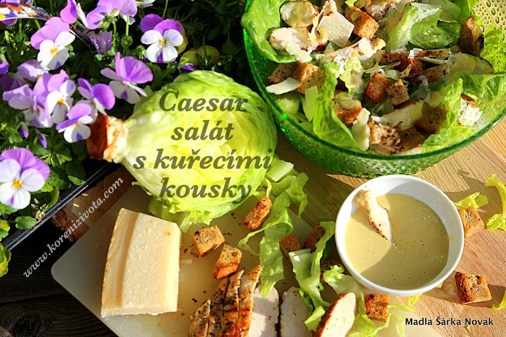 Caesar salát s kuřecími kousky