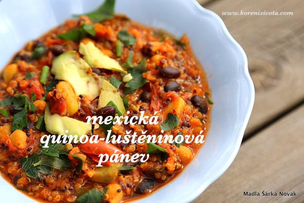 mexická quinoa-luštěninová pánev
