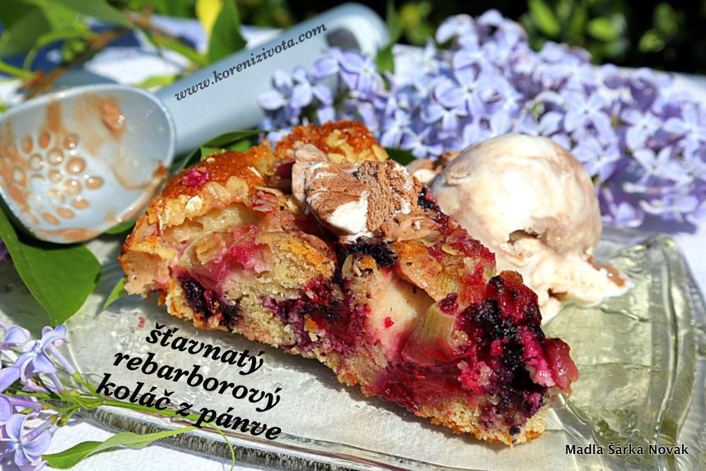 Šťavnatý rebarborový koláč z pánve a zmrzlina? Božská kombinace pro horké letní dny...