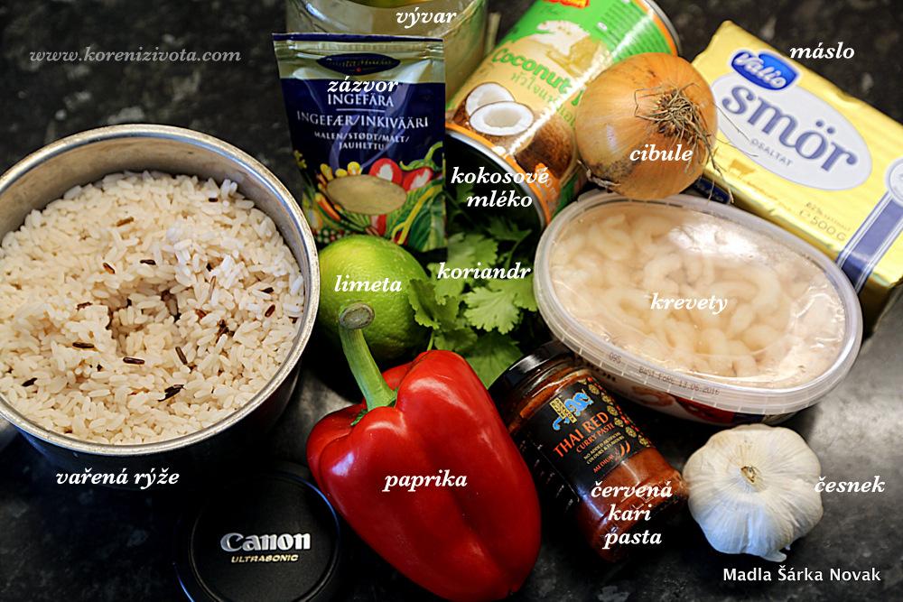 základní suroviny; správně tam patří i čerstvý zázvor, ale dá se nahradit sušeným