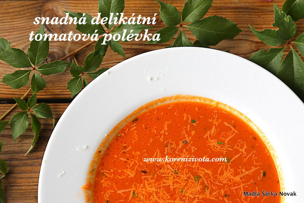 Snadná delikátní tomatová polévka