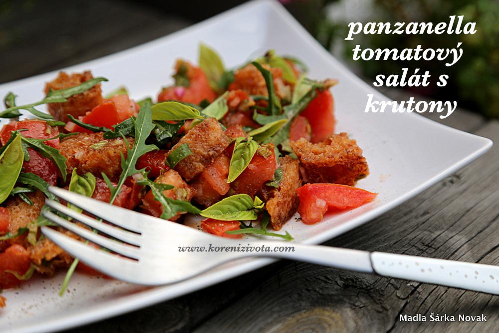 Panzanella tomatový salát s krutony