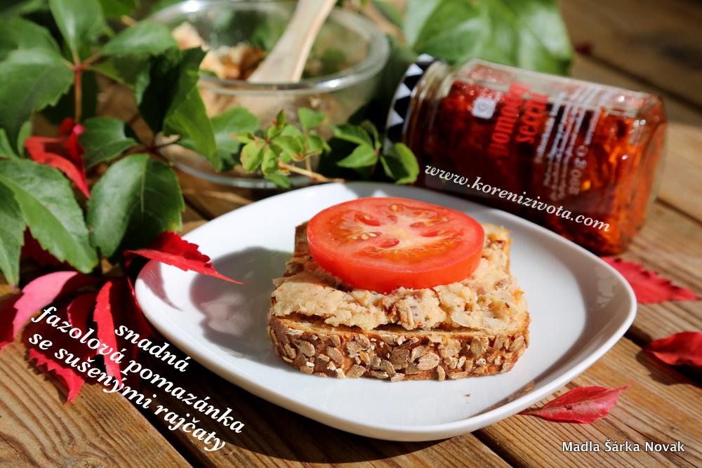 Snadná fazolová pomazánka se sušenými rajčaty