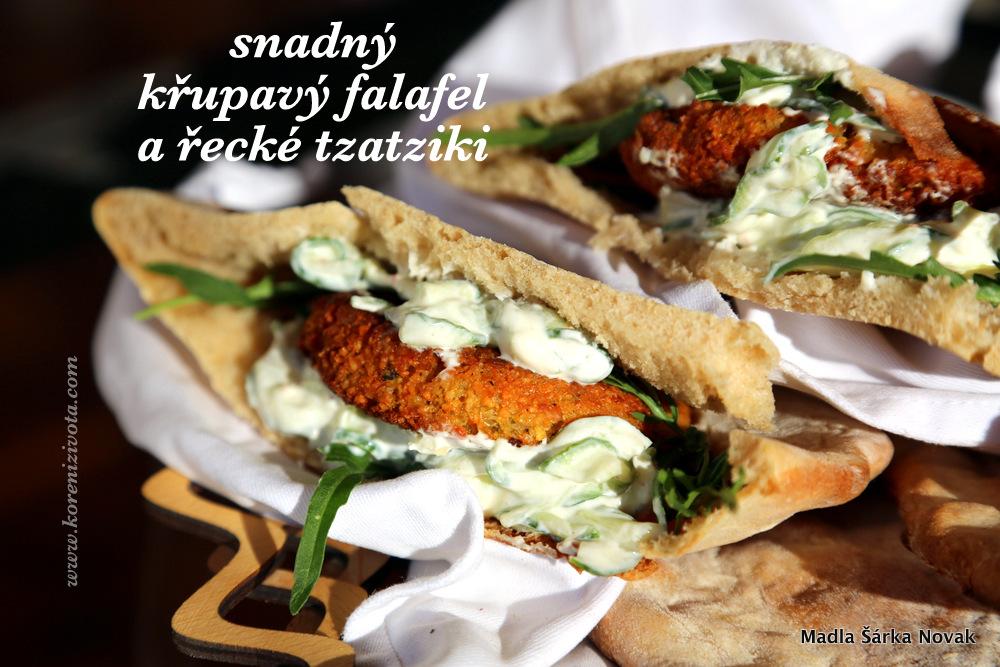Snadný křupavý falafel a řecké tzatziki