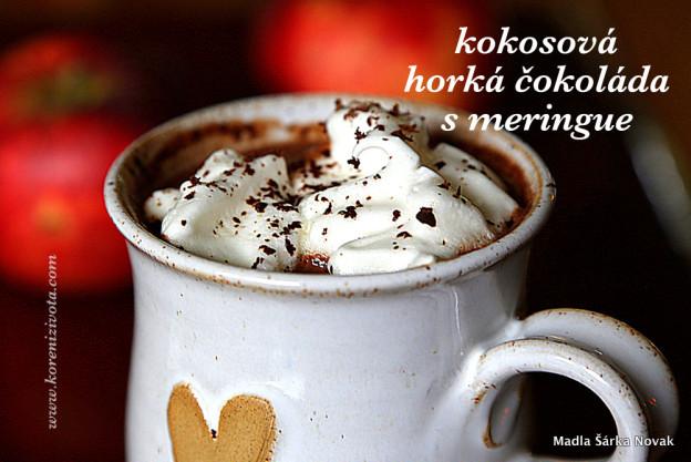 Kokosová horká čokoláda s meringue