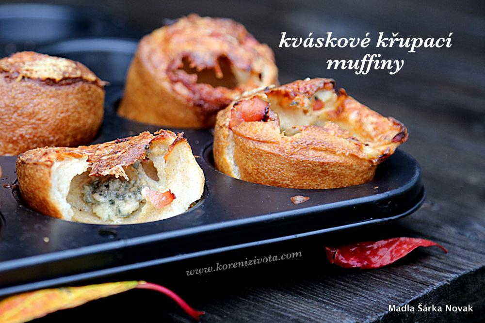Kváskové křupací muffiny