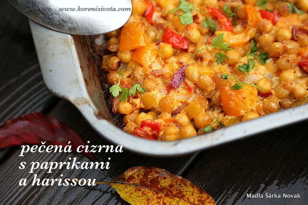 Pečená cizrna s paprikami a harissou vás zahřeje v chladných dnech :-)