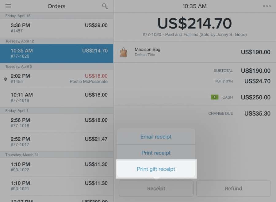 Shopify POS print receipt | Sharp pos terminal up-v5500 ...